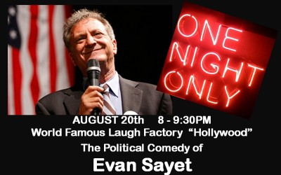 EVAN SAYET IN CONCERT — WEDNESDAY AUGUST 20