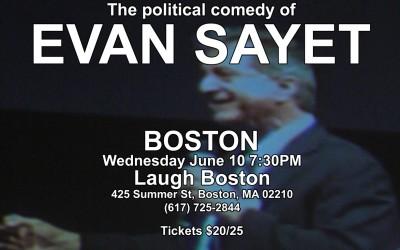 Evan Sayet Live – Performing in Boston